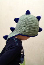 Load image into Gallery viewer, Dino hat for children with spikes