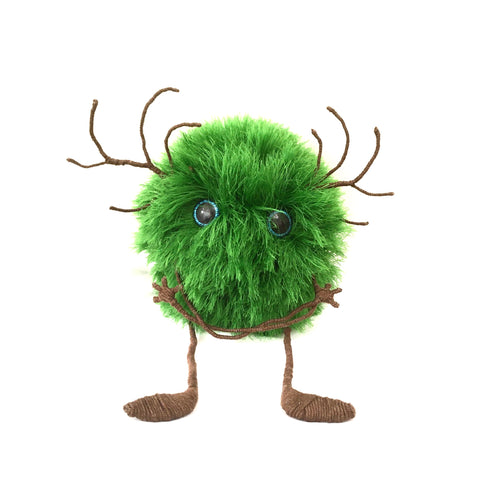 Green fluffy monster