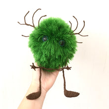 Load image into Gallery viewer, Green fluffy monster