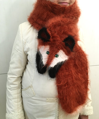 Fox fluffy scarf