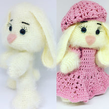 Load image into Gallery viewer, Amigurumi posable bunny