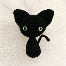 Load image into Gallery viewer, Black witch cat toy