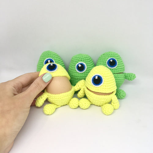 Set of 5 Easter egg holders monsters