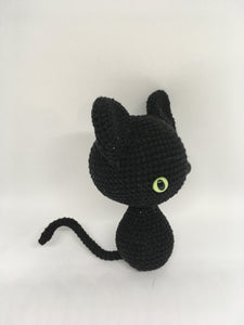 Black witch cat toy