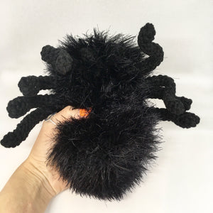 Amigurumi black spider