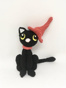 Amigurumi black cat and hat