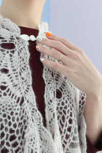 Crocheted lace shawl
