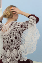 Load image into Gallery viewer, Crocheted lace shawl