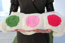 Load image into Gallery viewer, Crocheted baby blanket with colored circles