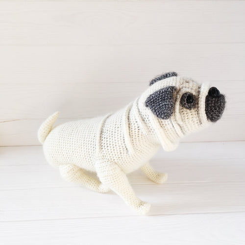 Amigurumi pug dog