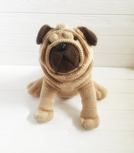 Load image into Gallery viewer, Crochet pug dog