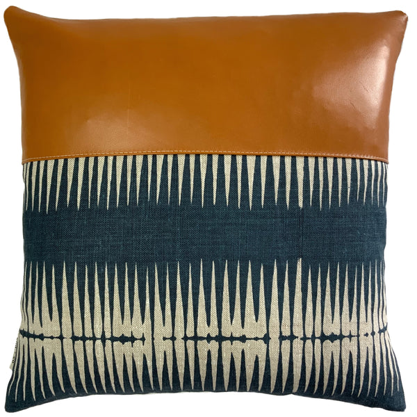 Tabitha Cushion Cover + Caramel Leather