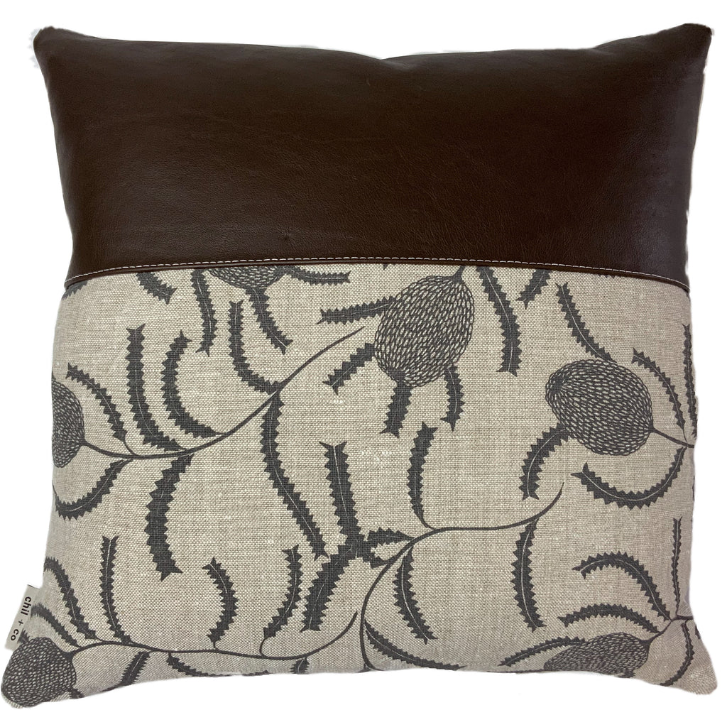 Alyssa + Leather Cushion Cover