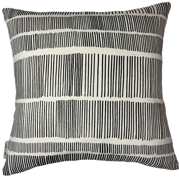 Black Poles Cushion Cover