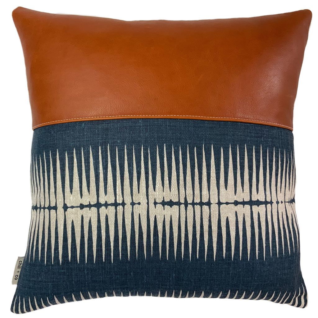 Tabitha Cushion Cover + Chocolate Leather by Chil and Co Designs