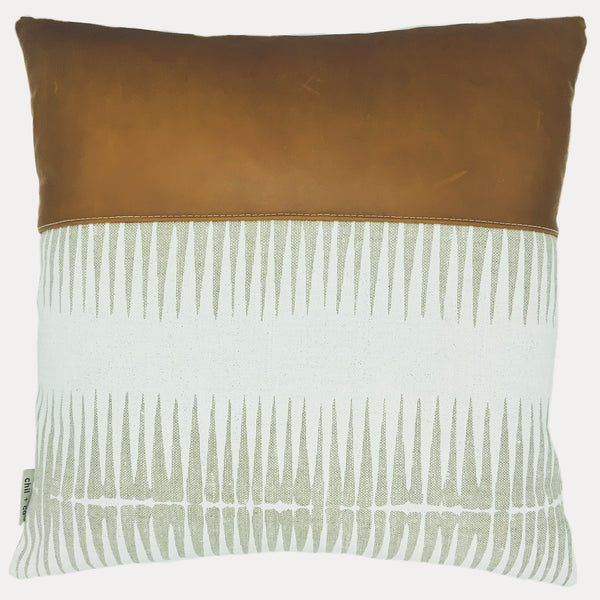 Tabitha in Chalk Cushion Cover + Leather
