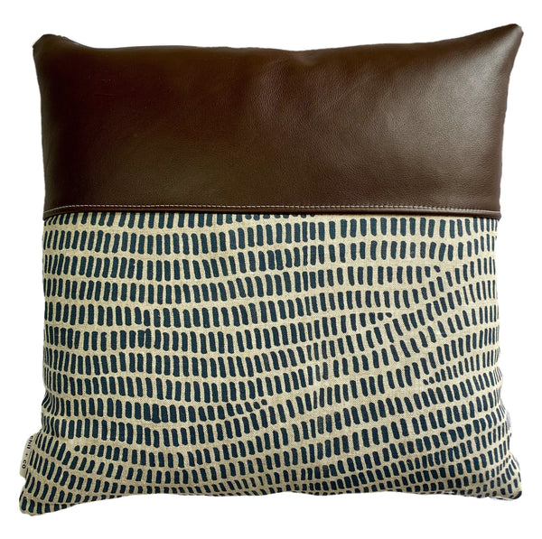 Bella Blue - Leather Range Cushion Cover