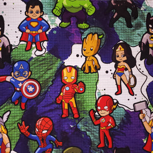 Cartoon Heroes - 20oz Fabric Tumbler