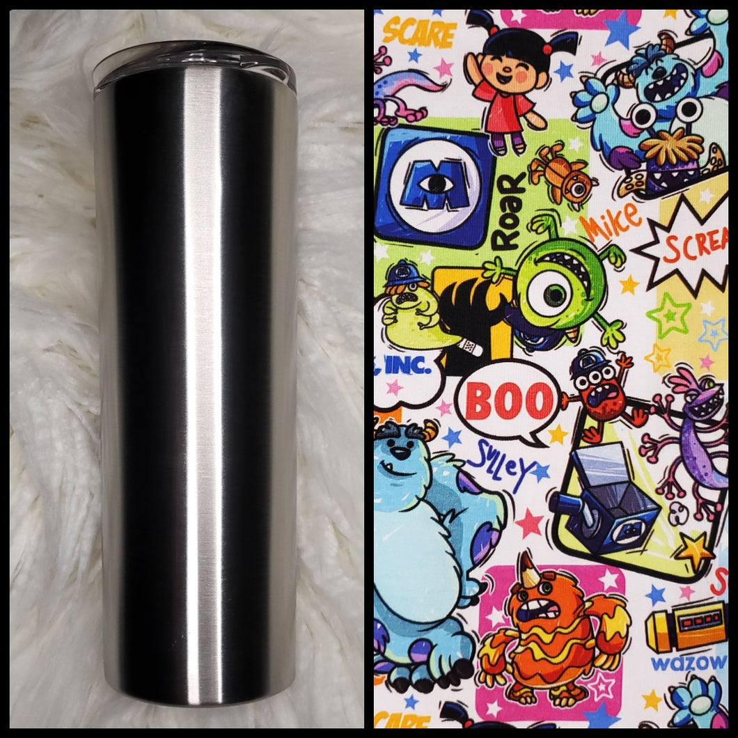 Monsters Inc - 20oz Fabric Tumbler