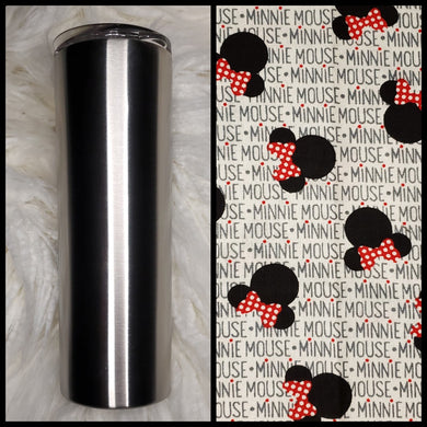 Minnie Heads - 20oz Fabric Tumbler