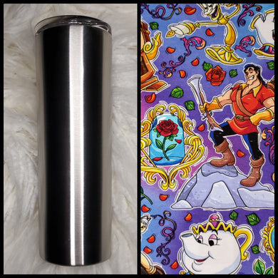 Beauty & the Beast - 20oz Fabric Tumbler