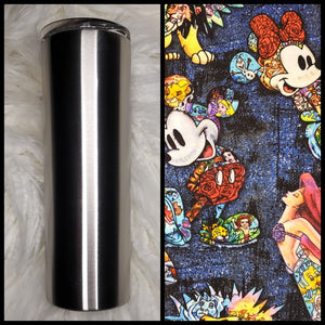 Mickey & Friends - Denim Mosaic - 20oz Fabric Tumbler