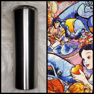 Character sketch - 20oz Fabric Tumbler