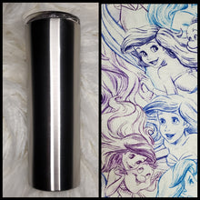 Load image into Gallery viewer, Under the Sea - Ariel Sketch  - 20oz Fabric Tumbler