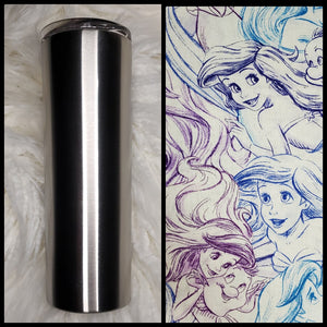 Under the Sea - Ariel Sketch  - 20oz Fabric Tumbler