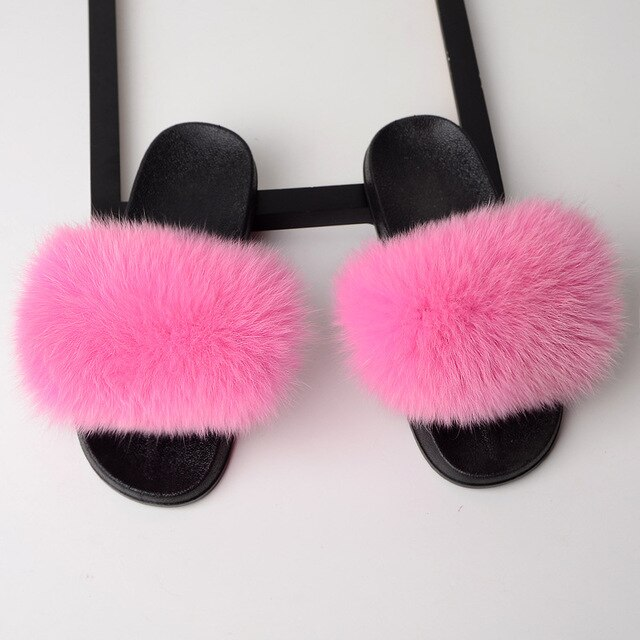 Fox Raccoon Sliders - Pink