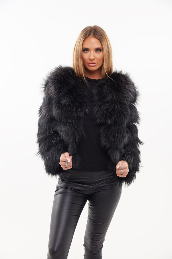 Raccoon Fur Coat - Custom Design - Poshpoms