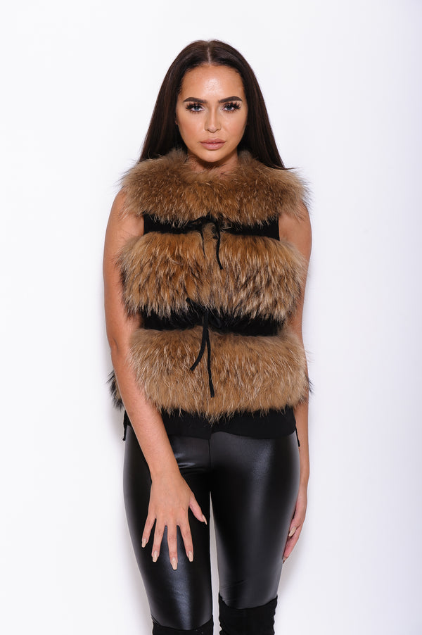 Raccoon Fur Gilet - Custom - Poshpoms