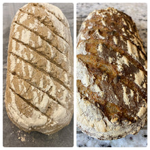 Load image into Gallery viewer, Small Oval Ribbed Sourdough Baking Kit