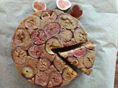 Upside Down Fig & Hazelnut Cake - Medium