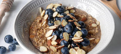 Blueberry Almond Porridge with Date Syrup