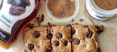 Date Sugar and Date Syrup Almond Butter Blondies