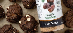 Date Sweetened Chocolate Cookies With Date Sugar Bottle