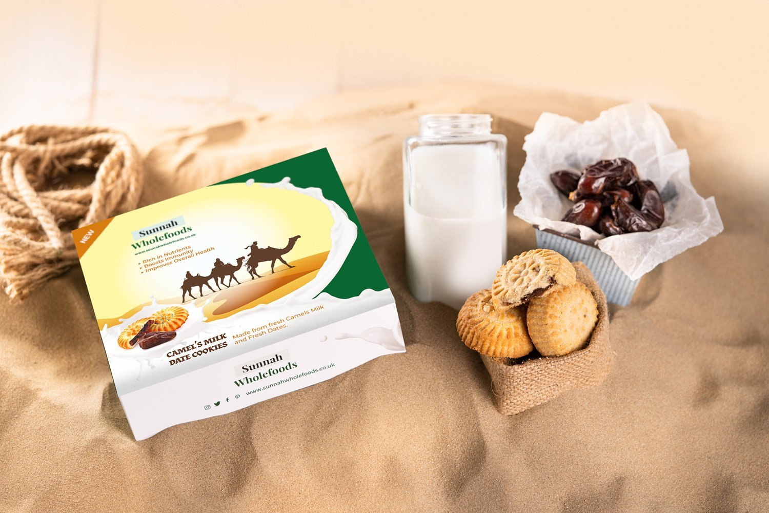 6 Pack Camel Milk Date Maamoul (Family Pack)