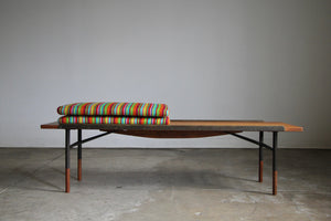 1950s Finn Juhl Bench for Bovirke With Alexander Girard Cushions