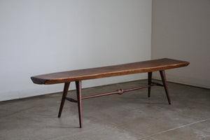 Sculptural Live Edge Bench circa 1950s