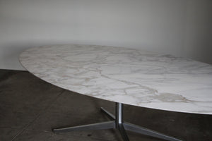 "1970s Florence Knoll 96"" Marble Dining Table"