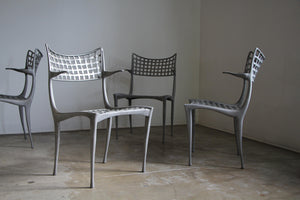 "1970s Vintage Dan Johnson ""Sol Y Luna"" Dining Armchairs - Set of 8"
