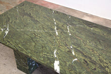 Load image into Gallery viewer, Custom Green Marble Coffee Table, 1980s