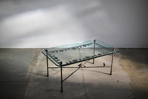 After Diego Giacometti Sculpted Bronze Coffee Table, 1980s