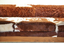 Load image into Gallery viewer, Brazilian Cowhide Gondola Sofa by Jules Heumann