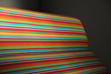 Load image into Gallery viewer, Charles and Ray Eames Compact Sofa in Alexander Girard Miller Stripe Fabric