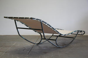 Early Walter Lamb Bronze Rocking Chaise