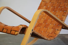 Load image into Gallery viewer, Luigi Crassevig Sculptural Leather Strap Rocking Chair, 1980s
