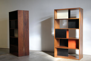 Pair of Large Modular Bookcases or Dividers by Evans Clark, 1950s