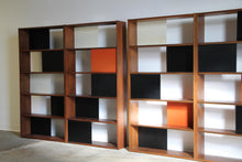 Load image into Gallery viewer, Pair of Large Modular Bookcases or Dividers by Evans Clark, 1950s